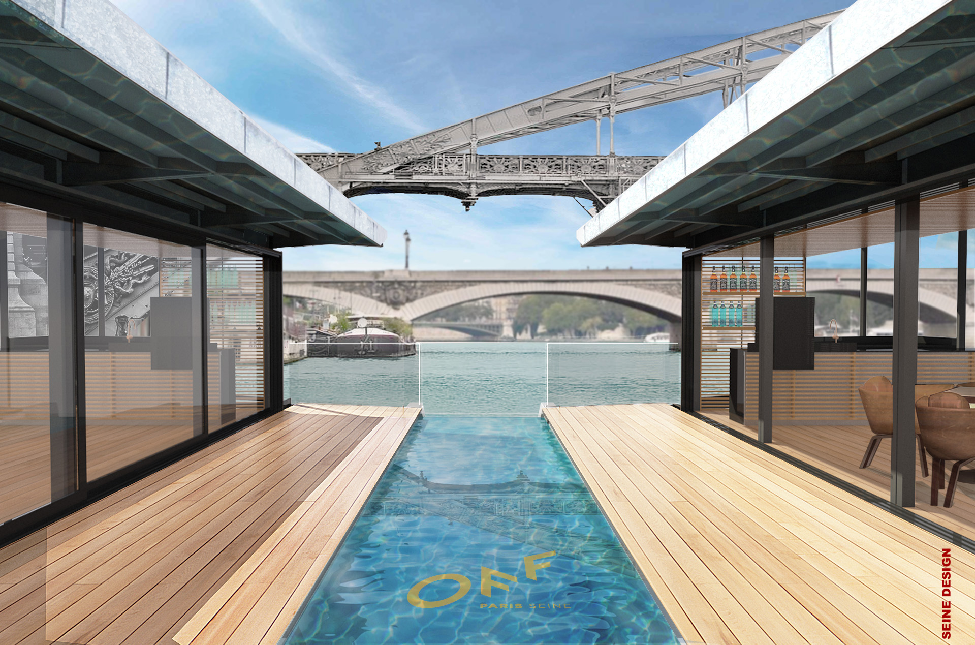 Hôtel flottant sur la Seine