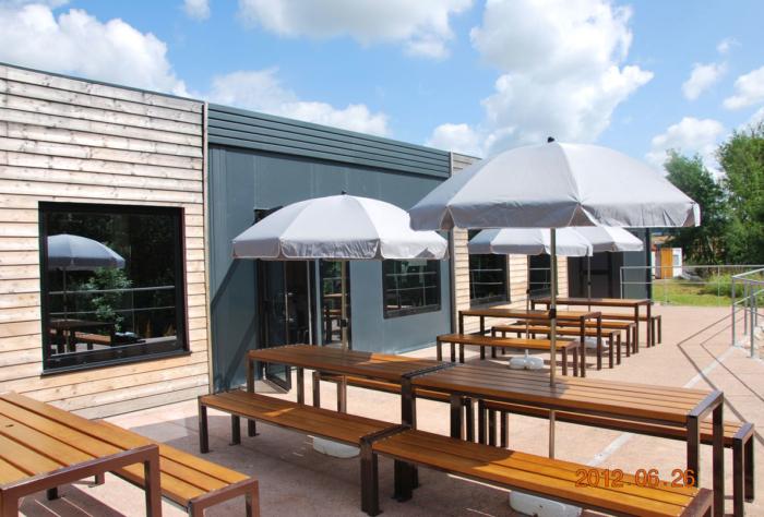 Terrasse du restaurant d'entreprise Continental