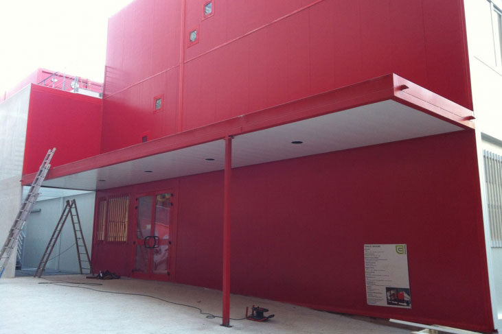 Modules architecturés pour le campus de Jussieu à Paris