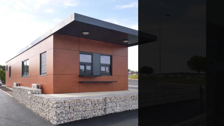 Accueil parking en conception modulaire