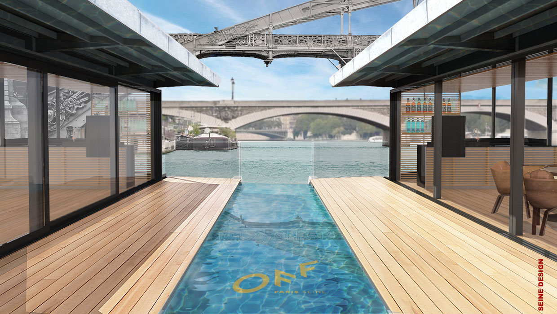 Hôtel flottant OFF PARIS Seine en conception modulaire